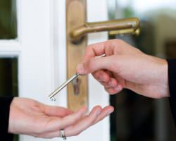 Handing over house key