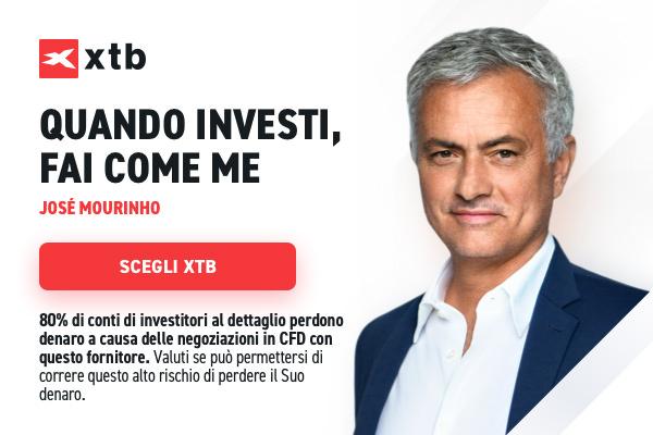XTB Broker José Mourinho IMG